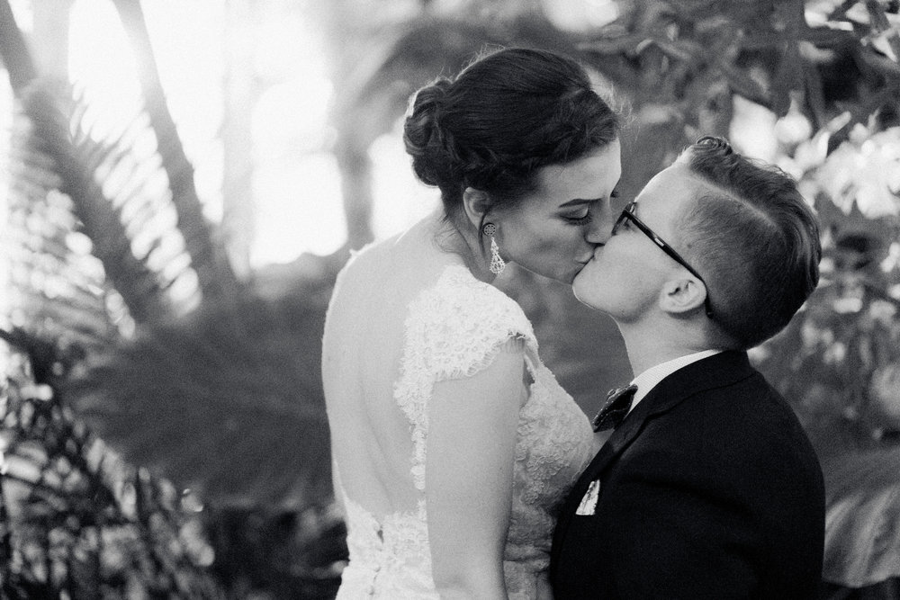 same sex wedding in Buffalo New York Buffalo Botanical Gardens