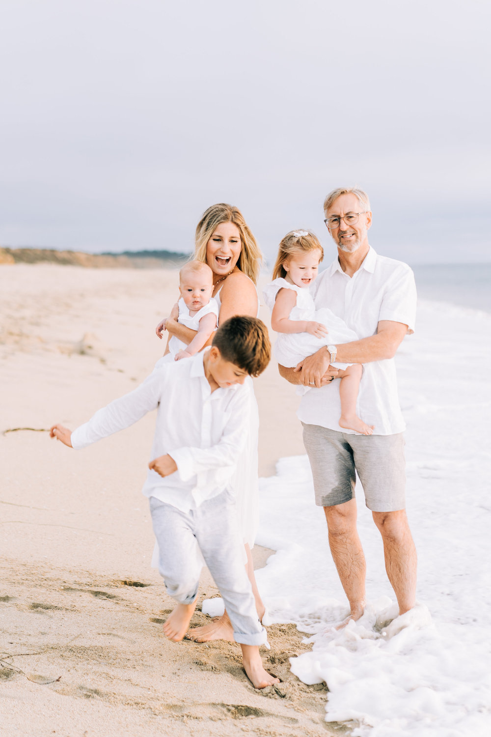 Family lifestyle beach session at Half Moon Bay