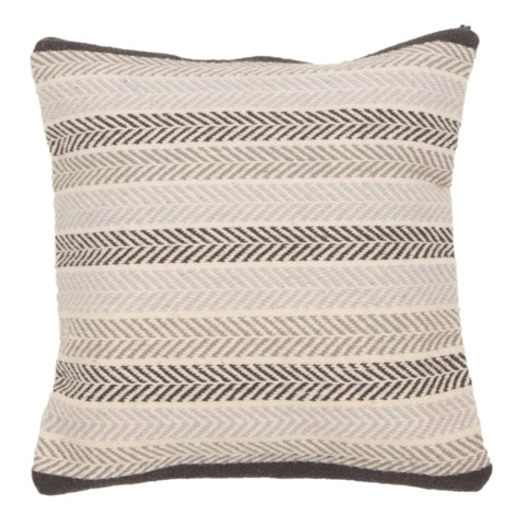 Pillow - Handwoven Wool - Chevron - $55