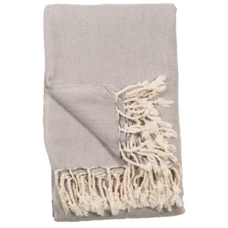 Blanket - Fishbone - Mist - $120