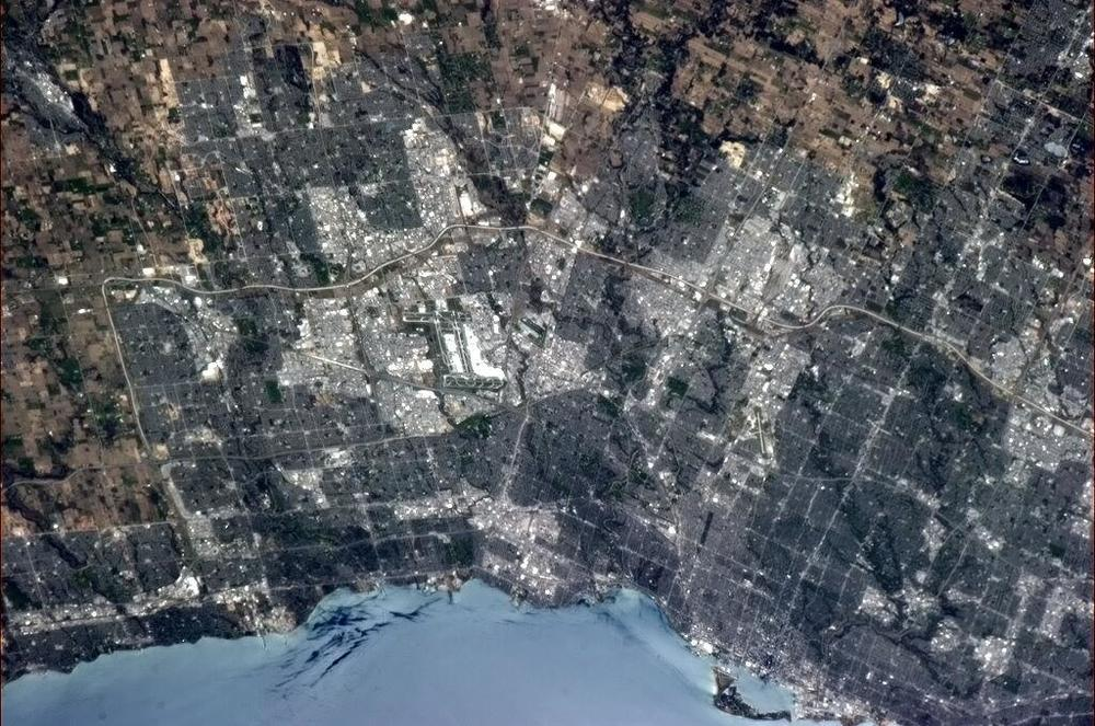 Mississauga as seen from the International Space Station