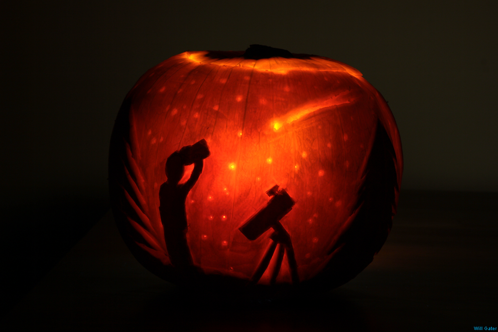 Comet ISON pumpkin - courtesy Will Gater