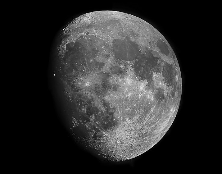 The Maxing Gibbous Moon will be visible through telescopes at our session Wednesday evening.