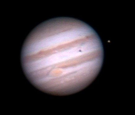 Jupiter as seen through a telescope. Photo by Dan Doolan