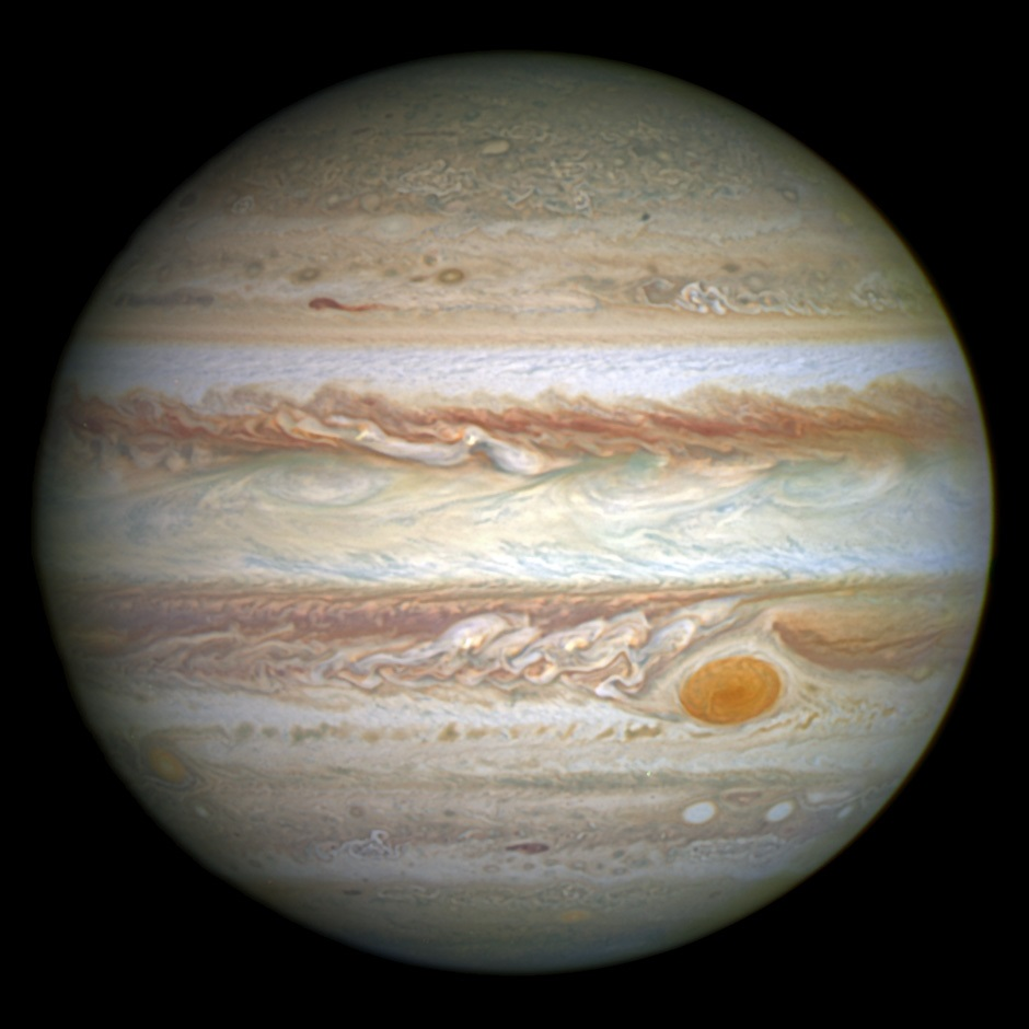 Clouds make Jupiter a colourful planet.