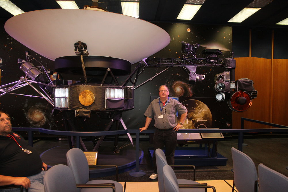 Randy Attwood with Voyager at JPL in California