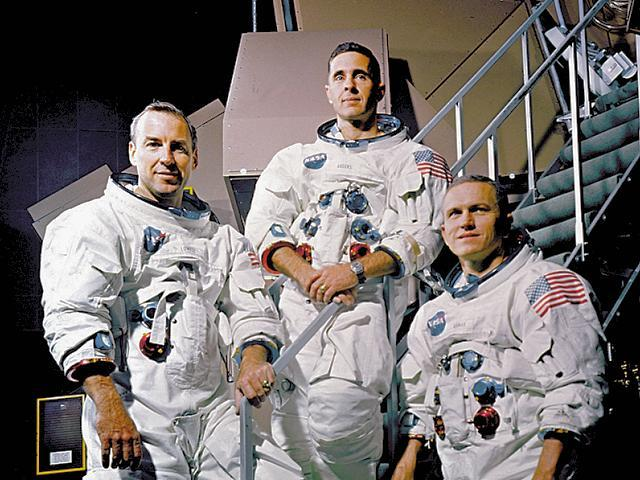 The Apollo 8 crew - James Lovell, William Anders, Frank Borman