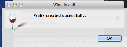 Winebottler Configuration is completed - close this window.