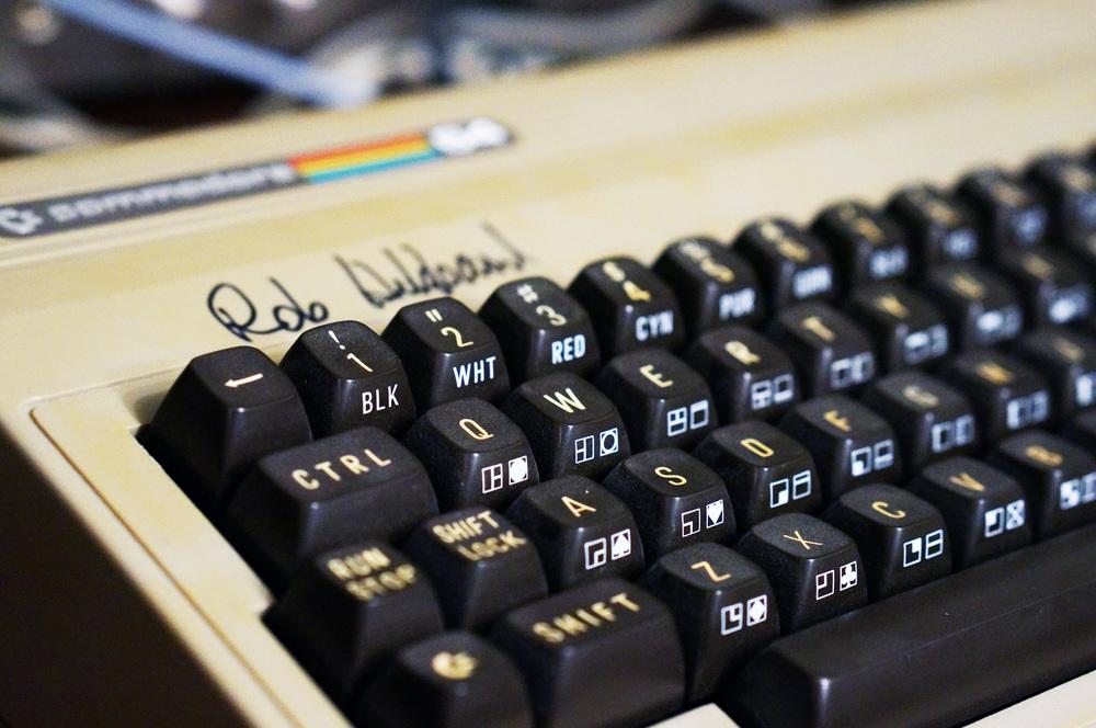 Rob Hubbard signed C64