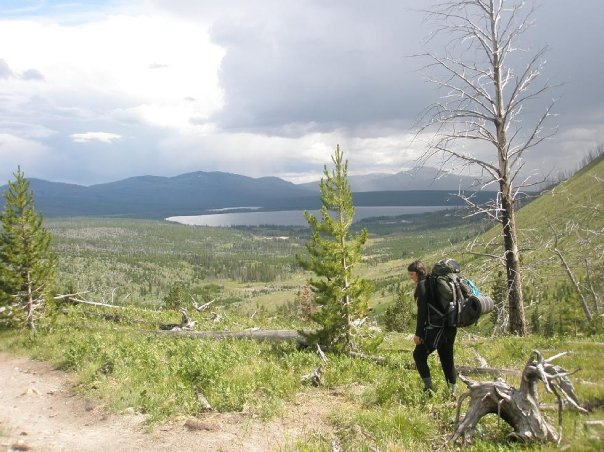 Backpacking at one of Melissa's favorite places in Wyoming: Hart Lake.