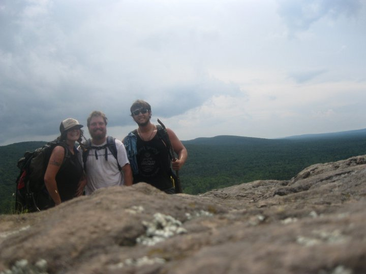Melissa, her partner Xander (also a Spot member), and her brother Mark backpacking in the Porcupine Mountains in Michigan.