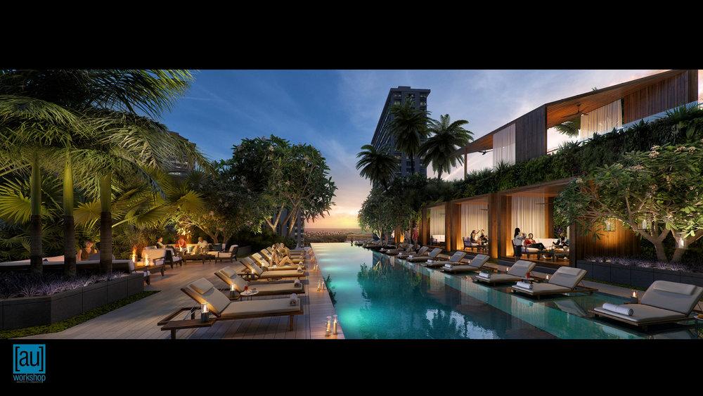 Hotel Pool Deck