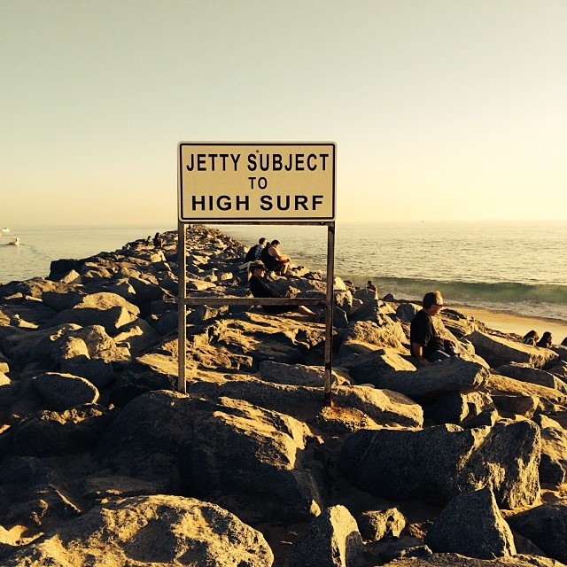 The jetty and the surf #beaches #explore #surf