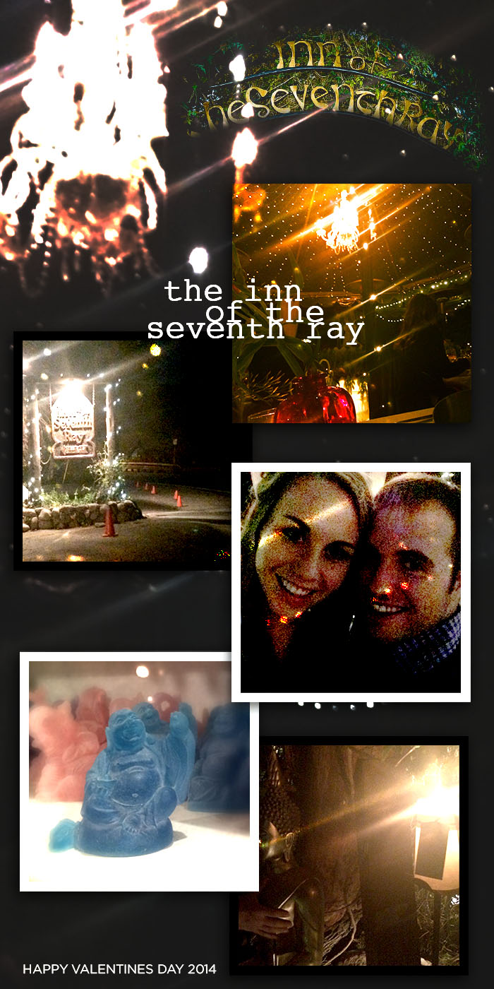 Lovely valentines day dinner at the Inn of the Seventh Ray last night with Stephen. One of the most romantic restaurants I have ever been to. Tucked away in the hills of Topanga not too far from the ocean, the ride alone up to this place was enchanting.