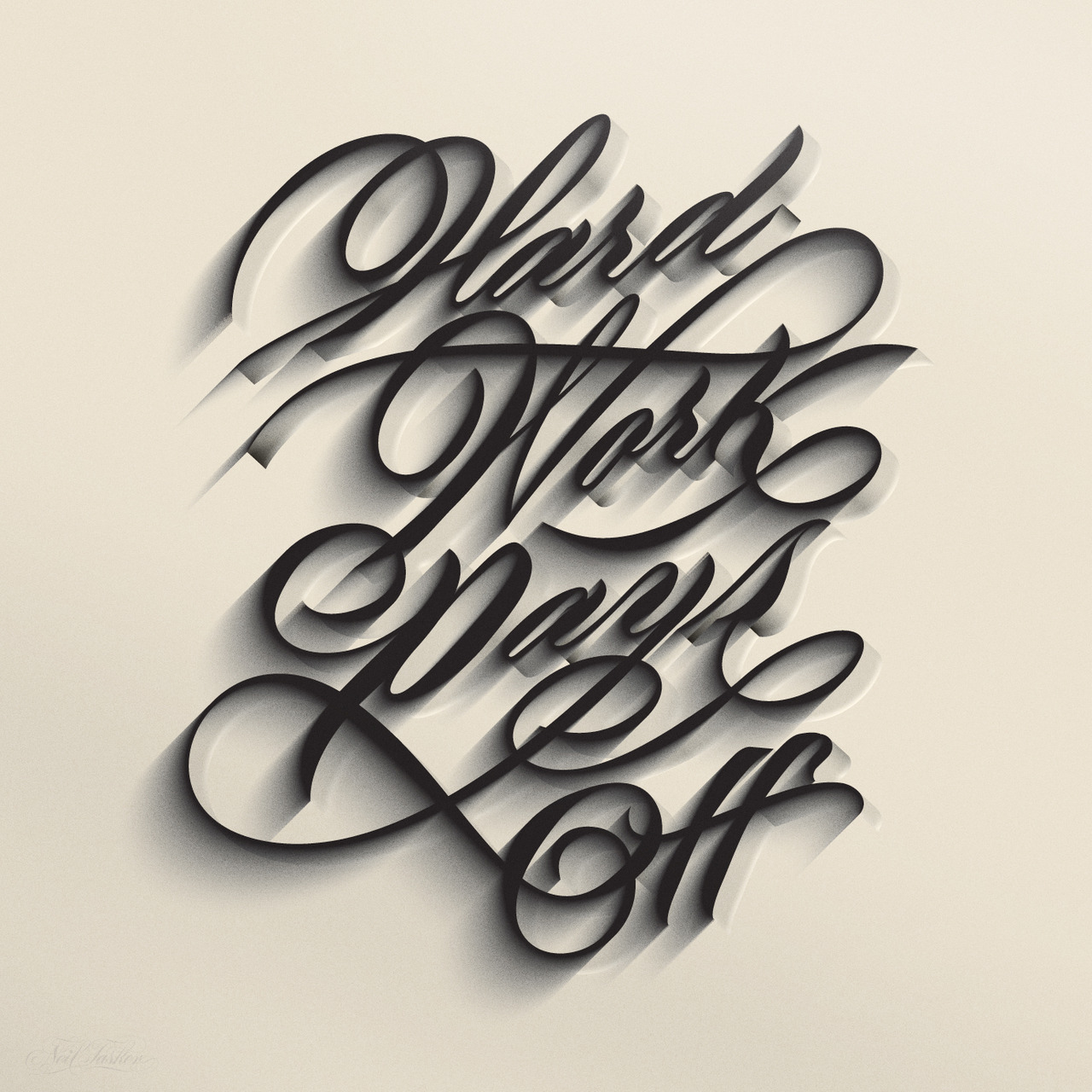 typeverything: Typeverything.com - Hard work pays off by Neil Tasker.
