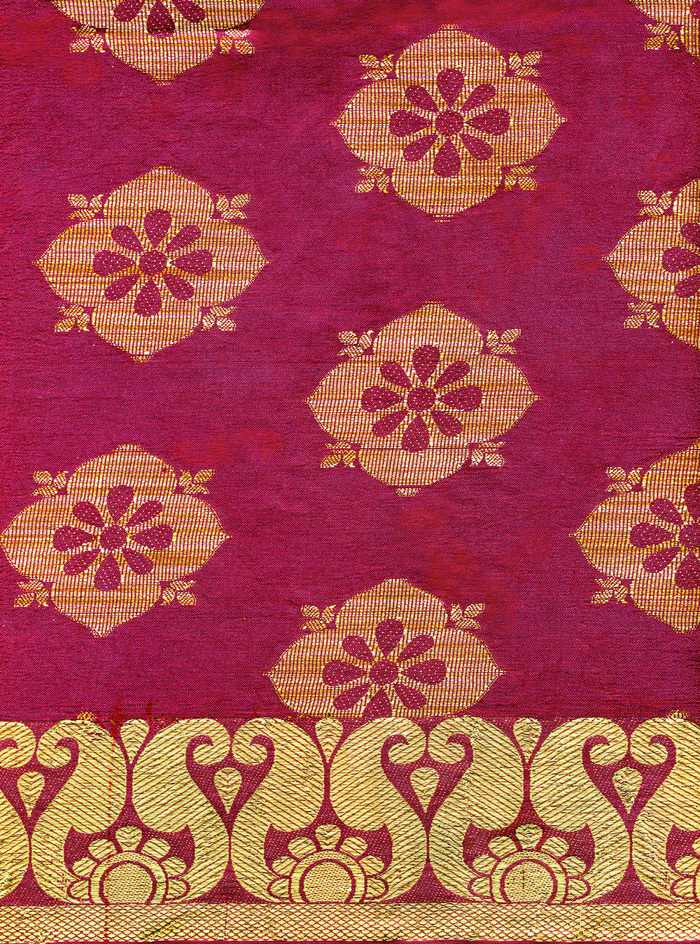 A textile piece from an Indian wedding sari