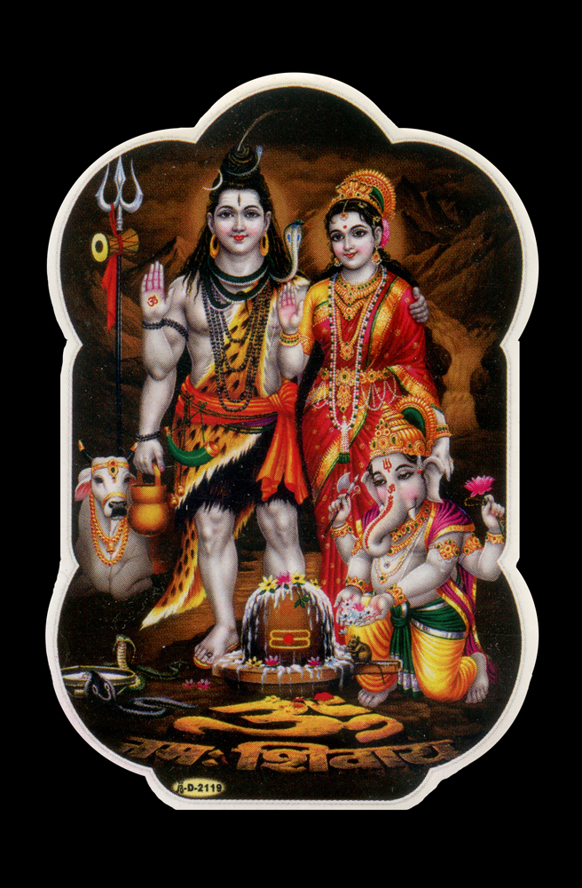 Lord Shiva and consort Goddess Parvati with their son Lord Ganesh. According to ancient Hindu beliefs, Lord Shiva founded the city of Varanasi, also known as Kashi, Benares or the City of Light; one of the oldest living cities in the world.