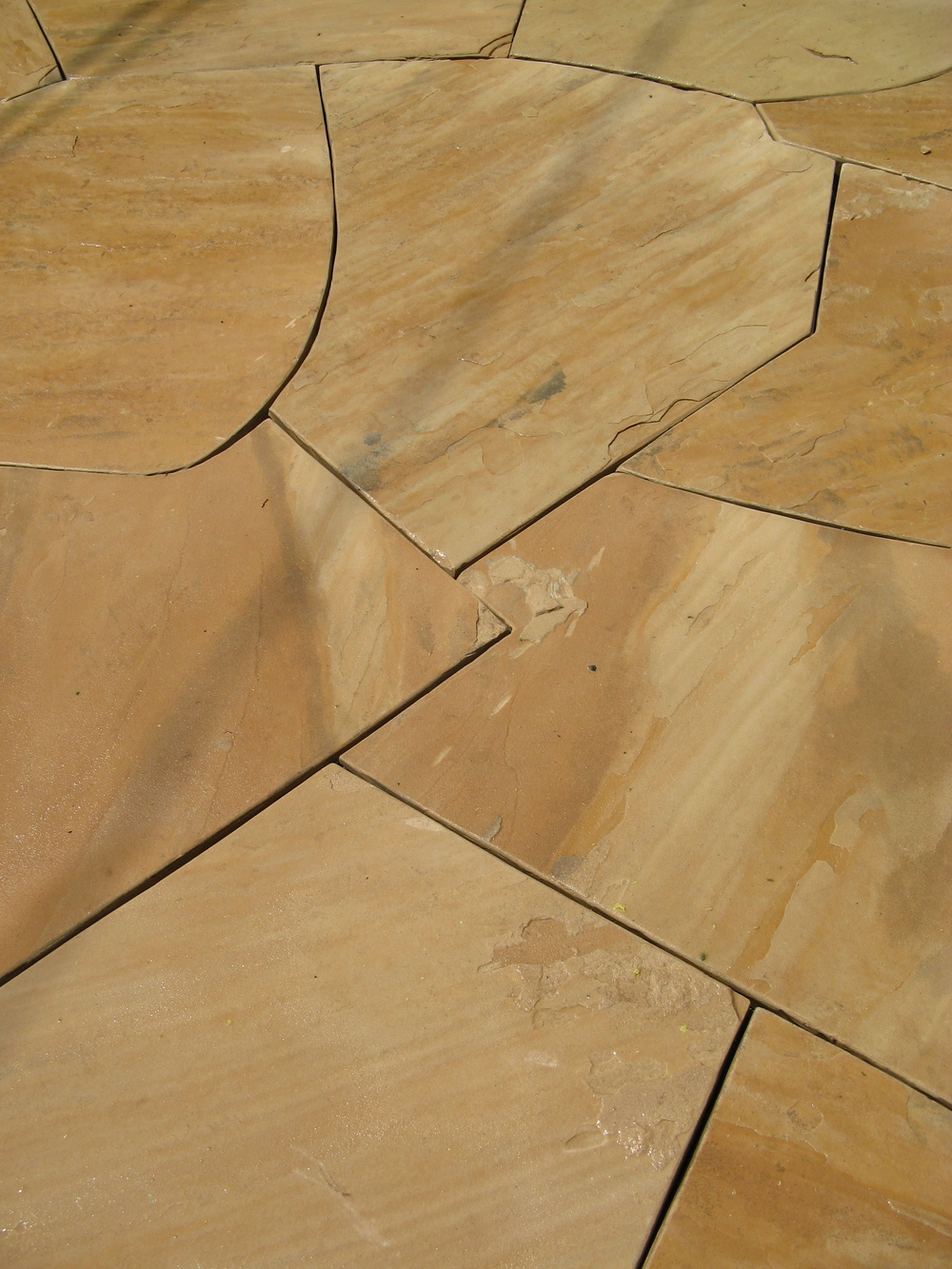 Dry-layed flagstone patio- detail  Design and construction: Doniel Ellis Designs