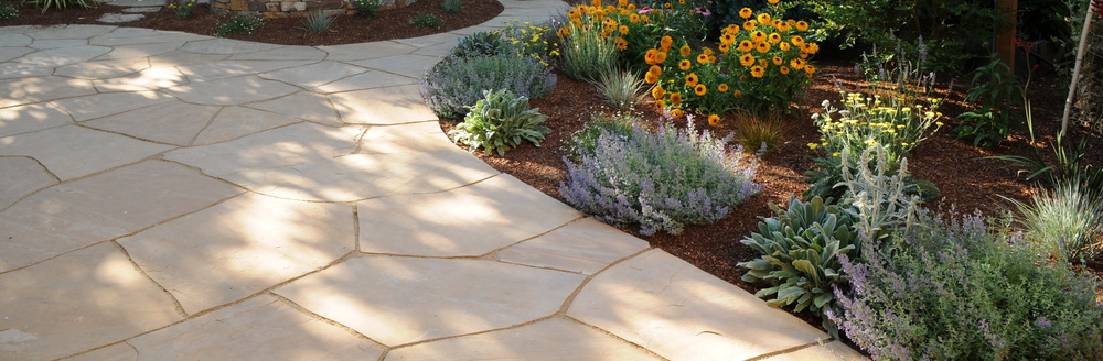 Flagstone patio- detail