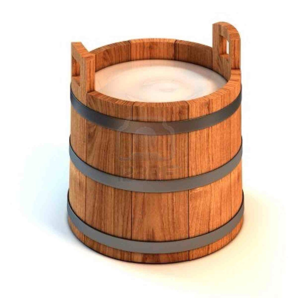 wooden buckets are bio-digradable - people with hearts care about pollution karma ...