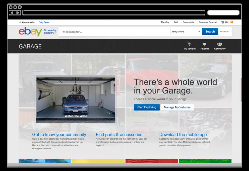 Garage Home Page