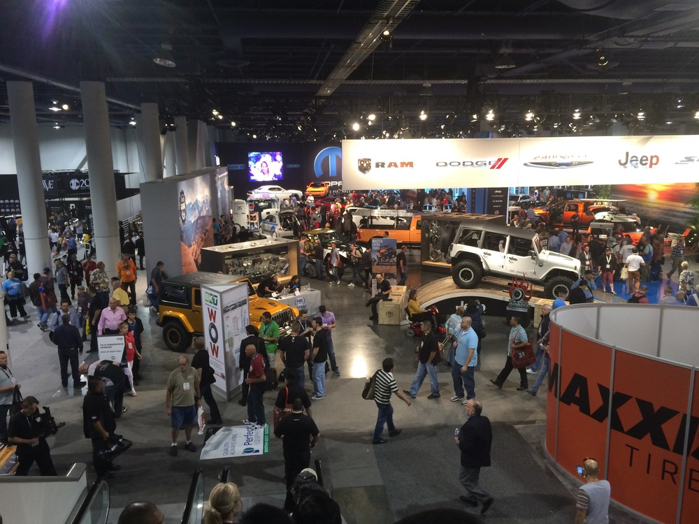 Gear heads gathering at the SEMA Auto Show in Las Vegas