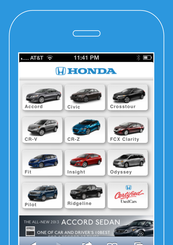 Honda Automobiles for Mobile
