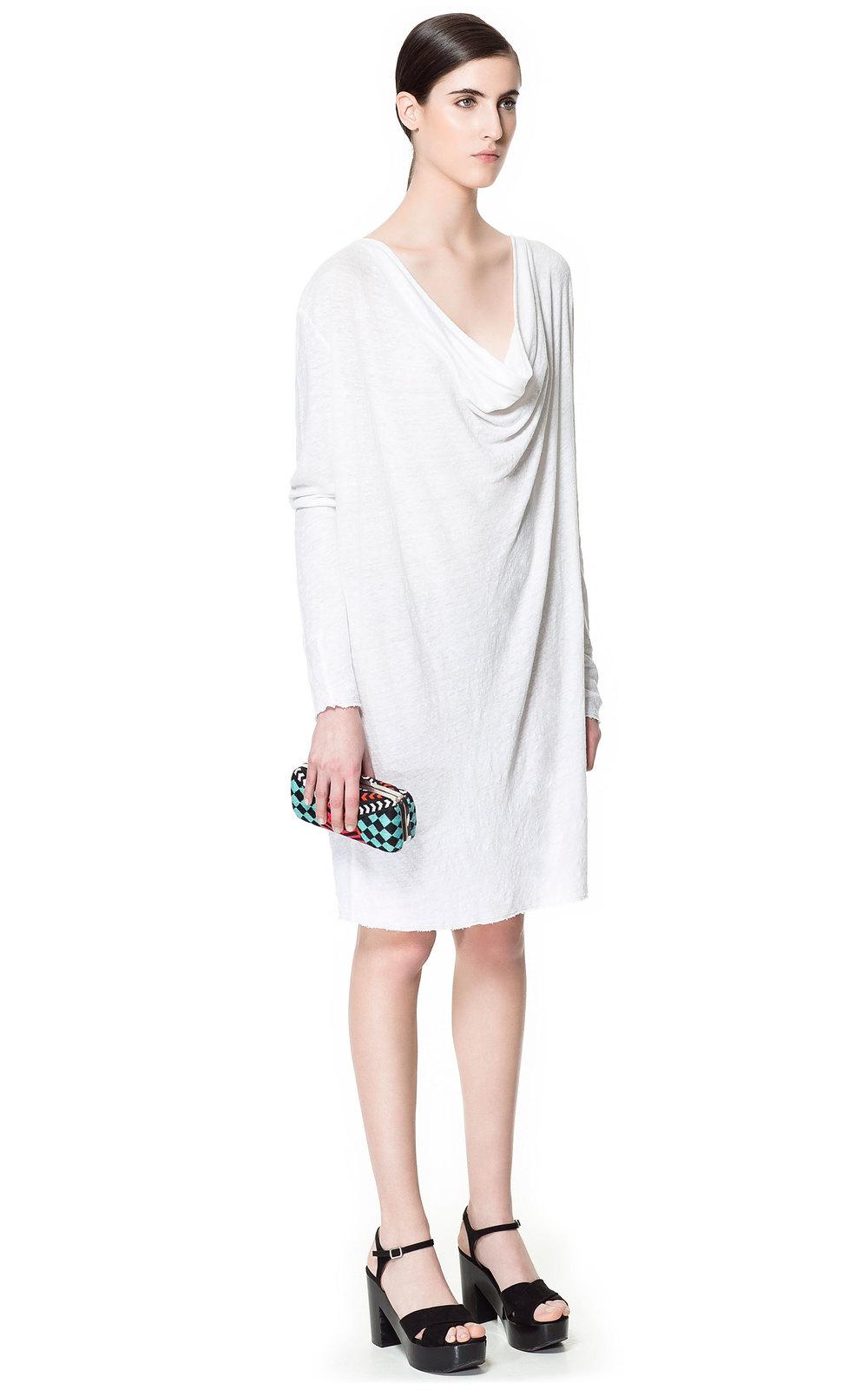 Draped Linen T-Shirt Dress, orig. $49.90, now $19.90