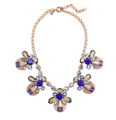 If you know me, you know how I feel about a statement  necklace  and this one is a stunner. Sold!
