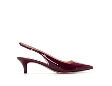 Zara  kitten heels  in perfect oxblood. Done!