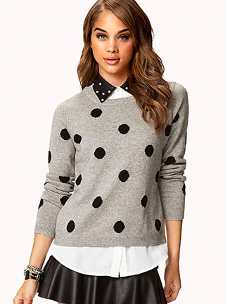 Polka Dot Sweate r, Forever XXI $22.80