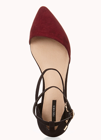 Sleek Asymmetrical D'Orsay Flats , Forever XXI $22.80
