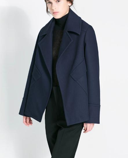 Zara Studio Jacket with Pockets available here