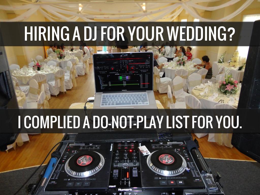 wedding dj play list