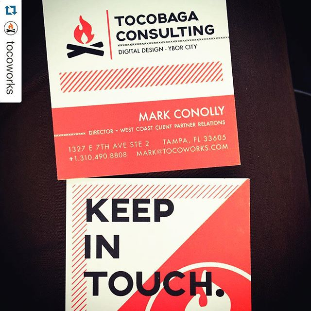 "#Repost @tocoworks ・・・ Tampa Bay in LA! Our West Coast representation @mcono received his new business cards from @moo eloquently declaring ""These Are The Mammaries!"" #TocoWorks #LA #Tampa #TampaBay #SMBconsulting #KennyLoggins #KennyLogginsCEO"