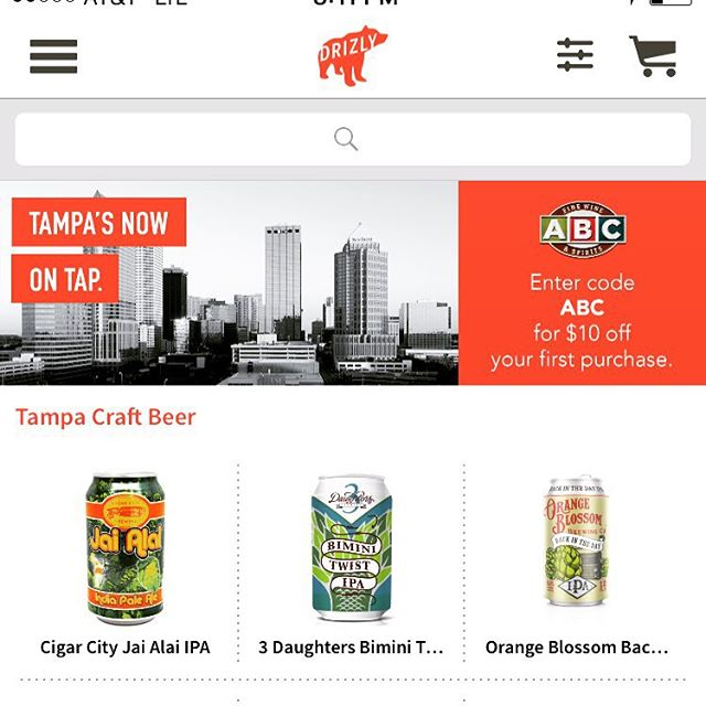 "Forget tonight's bad news with @drizlyinc the alcohol delivery service any ABC Liquors. ""It's for the lush that has too many DUIs"" #tampa #tampabay #florida"
