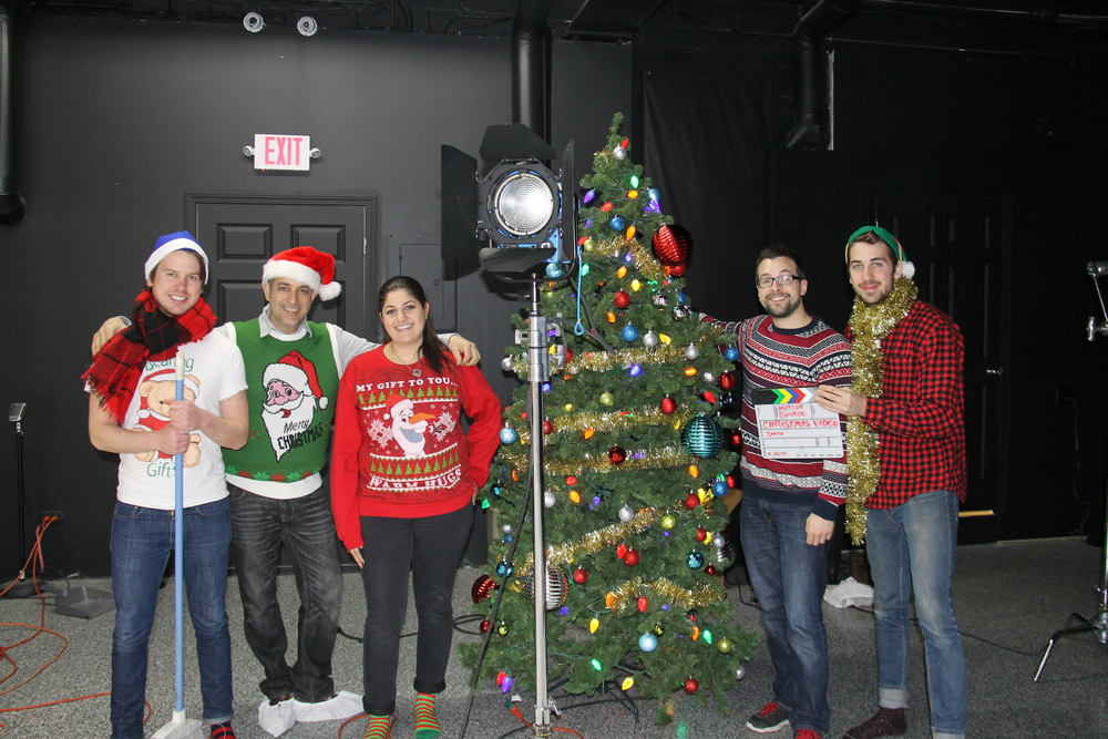Part of Our Crew on the Holiday Video Shoot