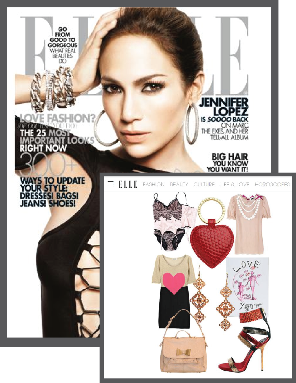 One meaning Lace 813 Earrings in ELLE Magazine