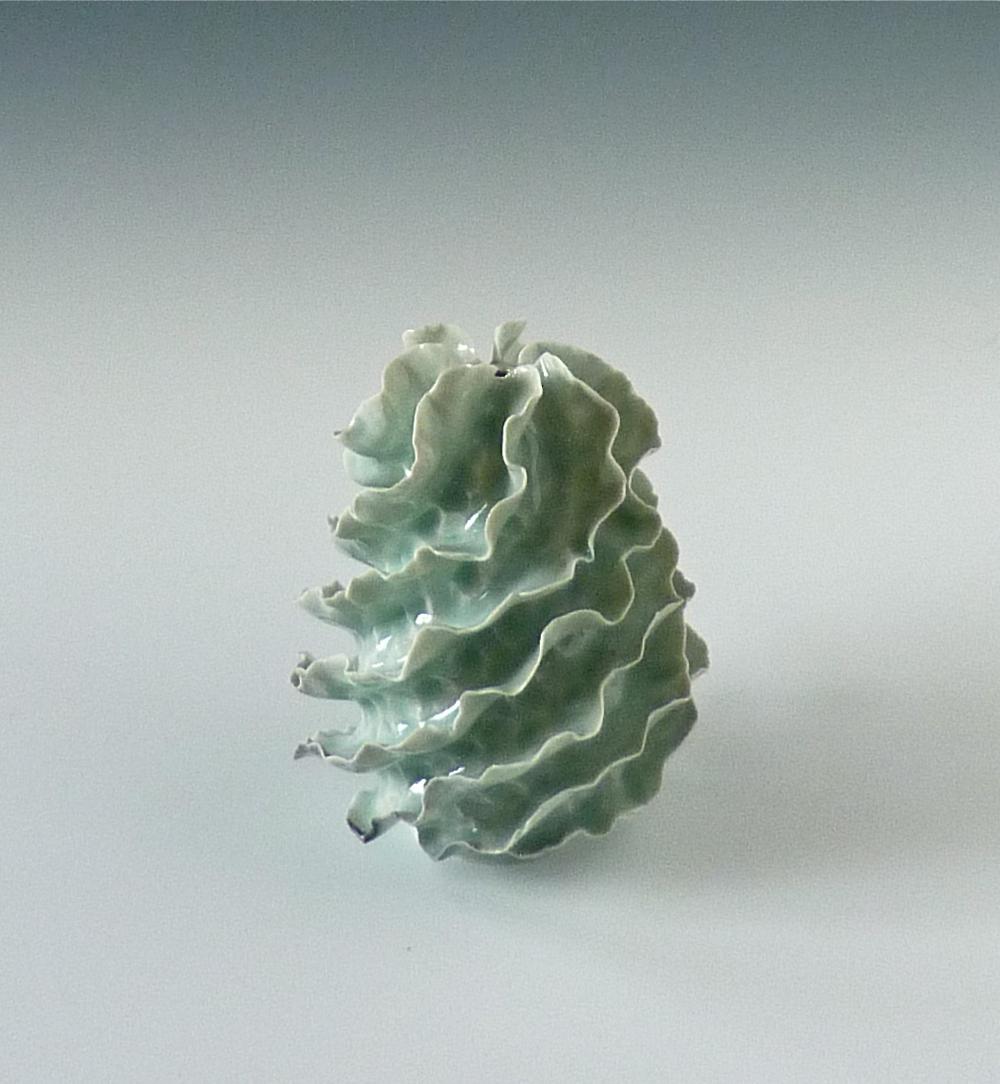 Celadon spiral flanged egg