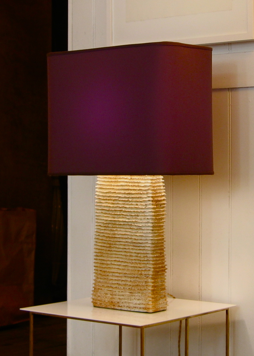 Rectangle Ribbed lamp