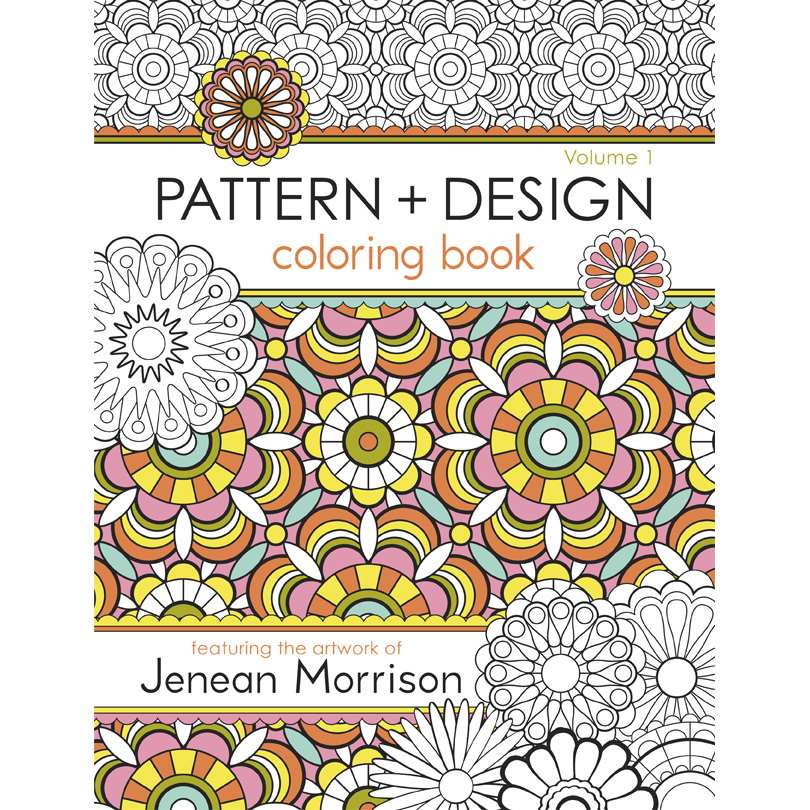 Colouring Patterns Books : Pattern and design coloring book jenean morrison art
