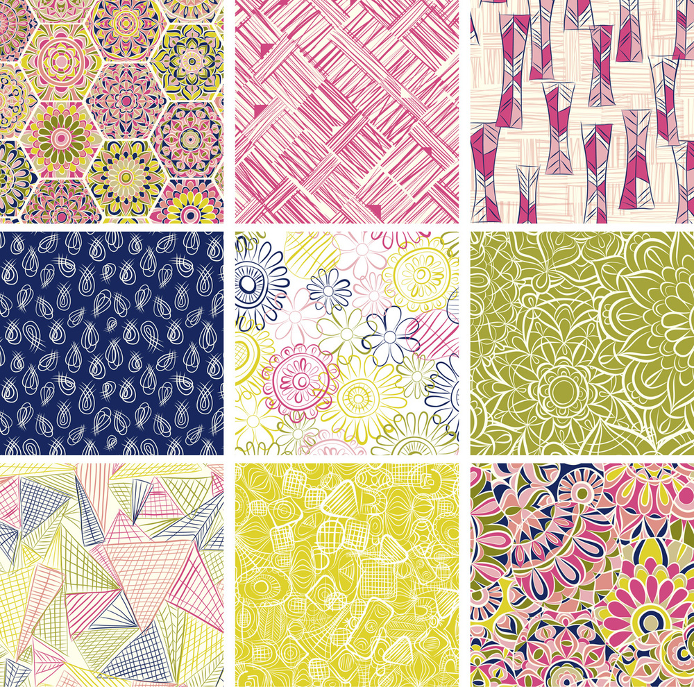 Jenean Morrison Uppercase Pattern Design Submissions