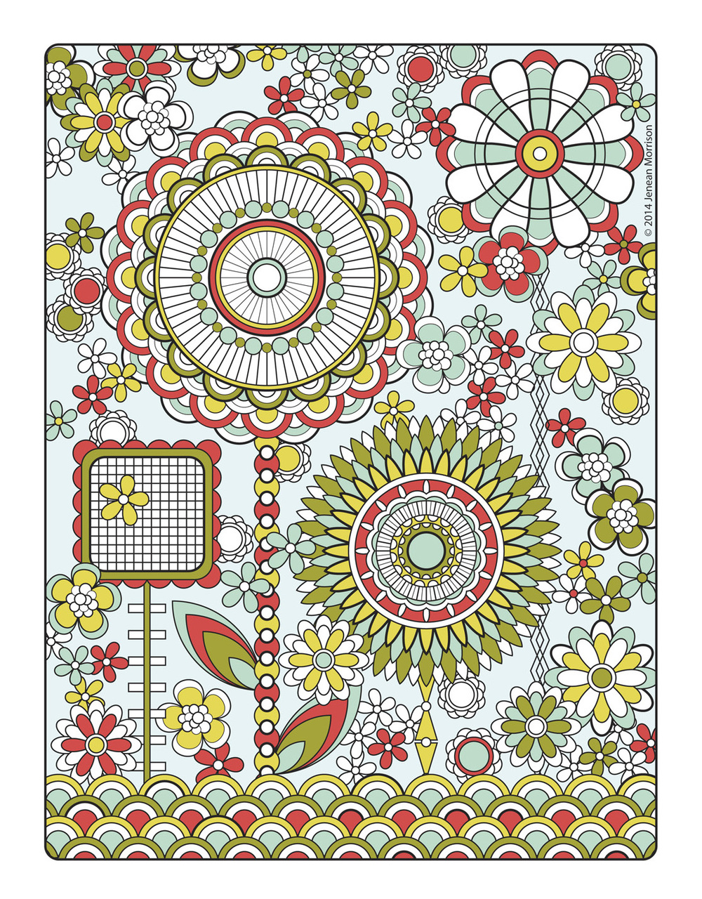Flower Designs Coloring Book Jenean Morrison Art amp Design