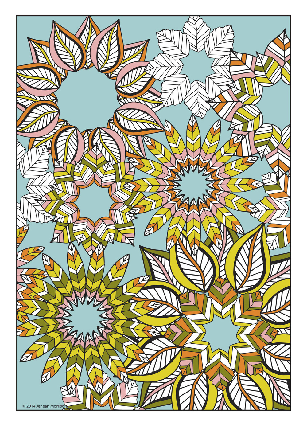 Cool flower design coloring pages