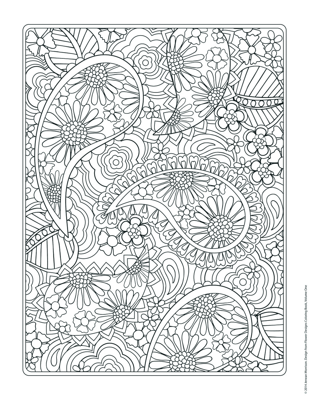 free coloring page from jenean morrisons flower designs coloring book