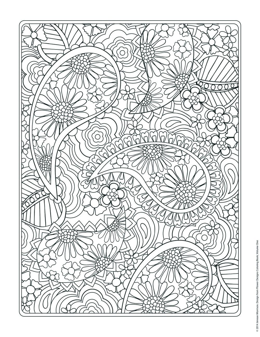 Flower Designs Coloring Book Jenean Morrison Art Design Flower Design Coloring Pages