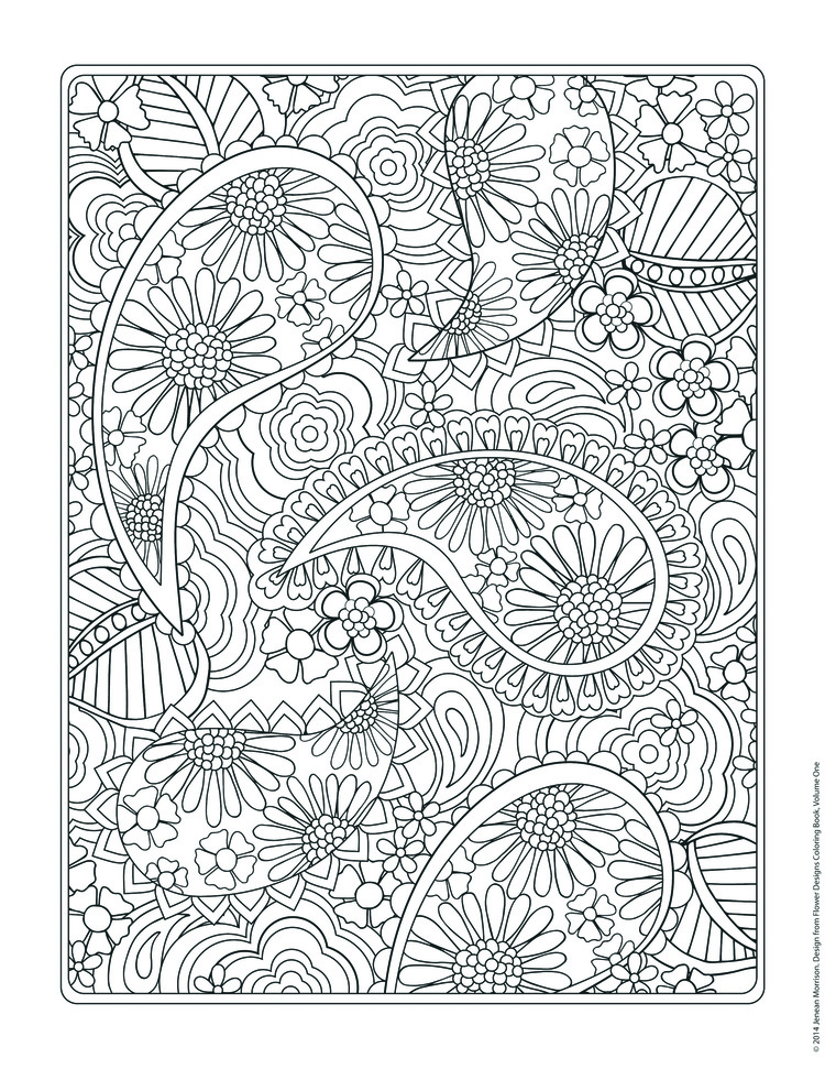 Free Coloring Page From Jenean Morrisons Flower Designs Book