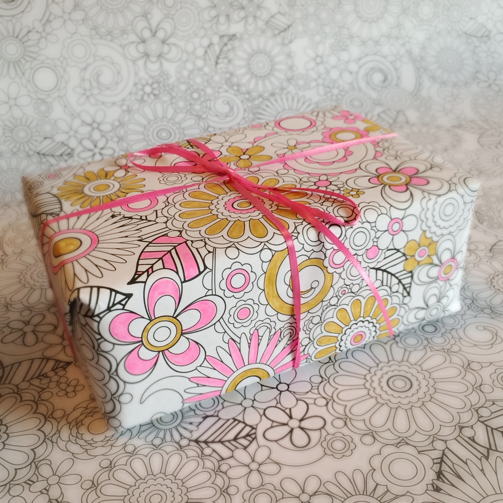 Color-Your-Own Wrapping Paper by Jenean Morrison