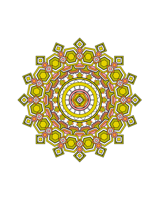 Mandala Design Coloring Book