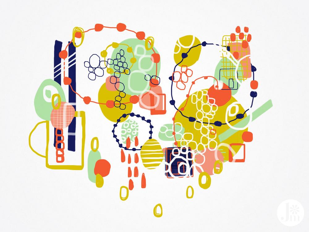 Ipad, Adobe Line, Adobe Ink and Slide, 2014 by Jenean Morrison.